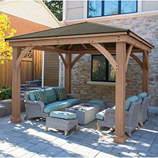 Yardistry 12' x 12' Cedar Gazebo with Aluminum Roof (Assembly Required)