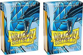 Dragon Shield Bundle: 2 Packs of 60 Count Japanese Size Mini Matte Card Sleeves - Matte Sky Blue