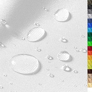 1buy3 Monaco Wasserdichter Polyester Stoff | 12.000 mm Wassersäule | Farbe 01 | Weiss | Polyester Stoff 160cm breit Meterware wasserdicht Outdoor extrem reissfest