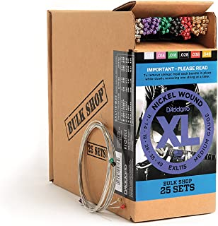 D'Addario XL Nickel Wound Electric Guitar Strings, Medium Blues Jazz Rock Gauge – Round Wound with Nickel-Plated Steel for Long Lasting Distinctive Bright Tone and Excellent Intonation – 11-49, 25 Sets