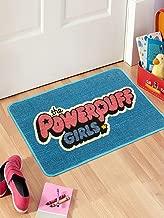 Saral Home Powerpuff Girls Anti-Skid Kids Jute Door Mat - (Turquoise, 40x60 Cms)