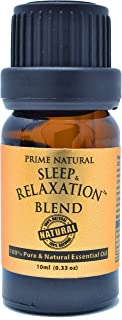 Sleep & Relaxation Essential Oil Blend 10ml / 0.33oz - Pure Natural Undiluted Therapeutic Grade for Aromatherapy Scents & ...