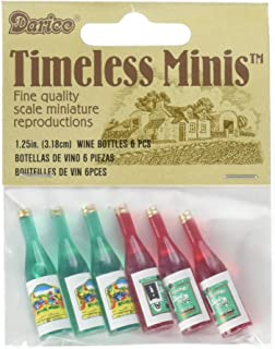 Darice 2306-15 Timeless Miniature Wine Bottles 6 Piece