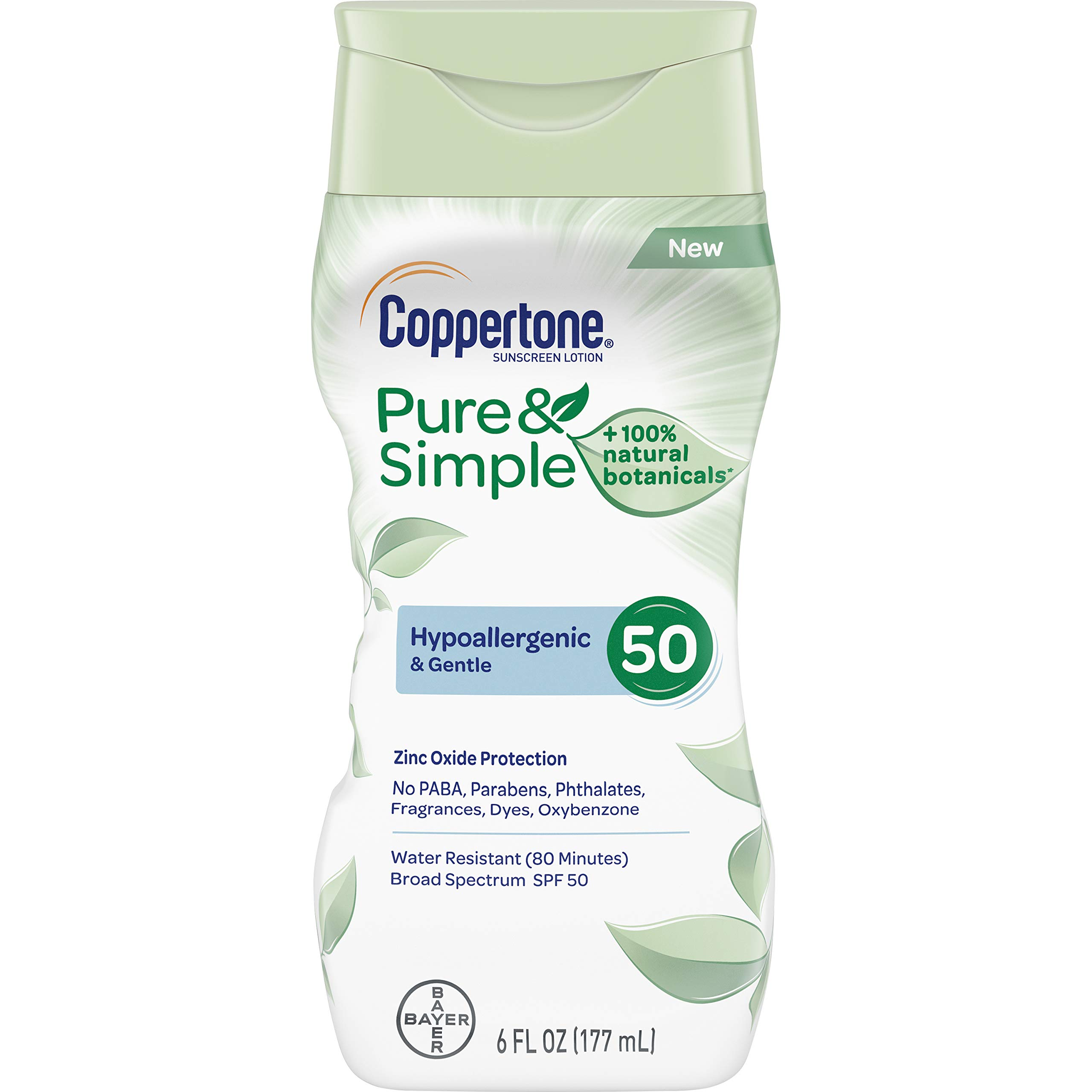 Coppertone Hypoallergenic Dermatologically Botanicals Protection