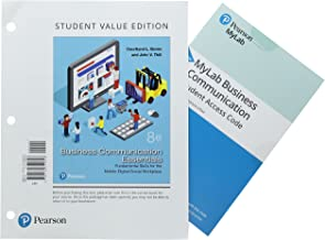 Business Communication Essentials: Fundamental Skills for the Mobile-Digital-Social Workplace, Student Value Edition Plus MyLab Business Communication ... eText -- Access Card Package (8th Edition)