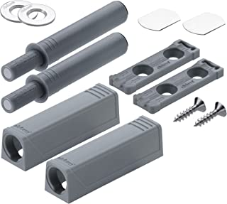 Blum Opening System tip-on with Adaptor Plate for mounting, Pack of 2