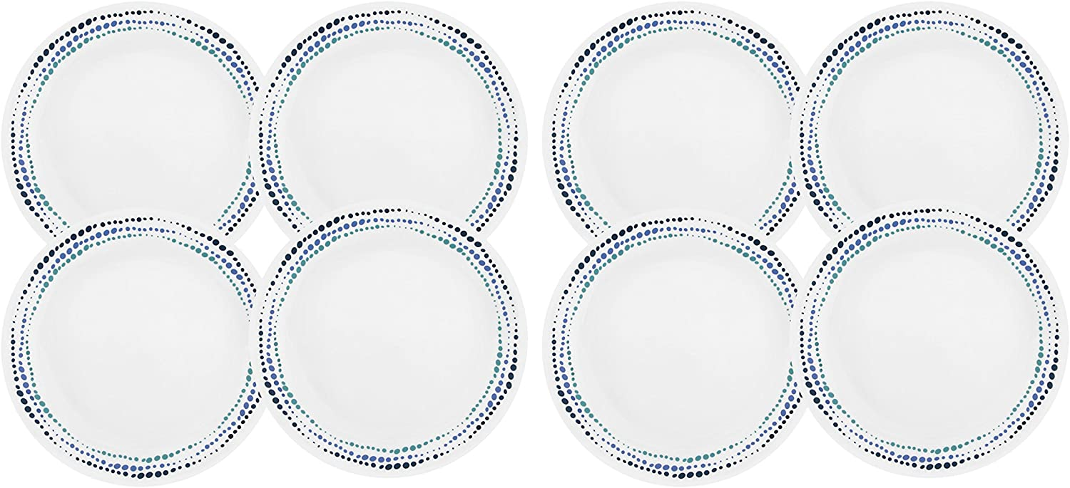 Corelle Livingware Ocean bluees 10.25  Dinner Plate (Set of 8)