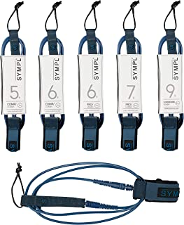 SYMPL Premium Surf Leash [Navy Blue, 5-9 ft] Light Surfboard Leash • Surf Boards, Longboard, SUP Paddle Board • Quick Release Velcro Pull Tab •Neoprene Ankle Cuff • Key Pocket•Strong Cord