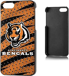Team Pro Mark Licensed NFL Cincinnati Bengals Slim Series Protector Case for Apple iPhone 5/5S - Retail Packaging - Orange/Black