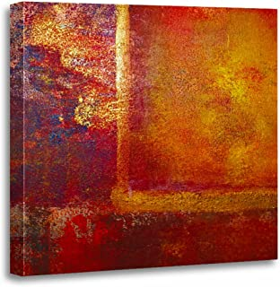 TORASS Canvas Wall Art Print Philip Abstract Color Fields Orange Red Yellow Gold Bowman Artwork for Home Decor 20