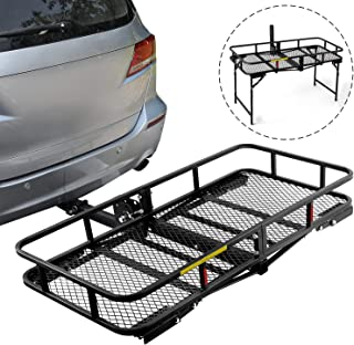 Leader Accessories Hitch Cargo Carrier With Stand Foldable Cargo Basket 60