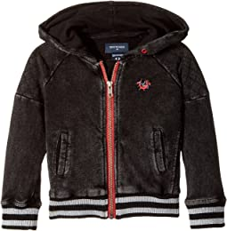 True Religion Kids - Moto Zip-Up Hoodie (Toddler/Little Kids)