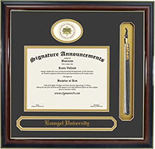 Signature Announcements Evangel-University Undergraduate, Professional/Doctor Sculpted Foil Seal, Name & Tassel Graduation Diploma Frame 16