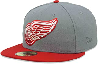 New Era Detroit Red Wings NHL 5950 59FIFTY Fitted Cap Hat (7 3/4)