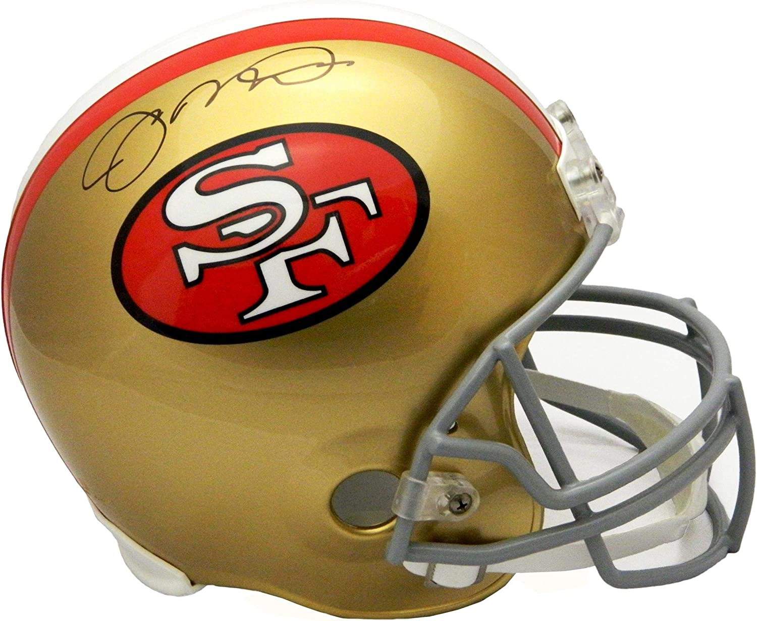 Joe Montana Signed Helmet  Throwback Riddell Full Size Replica  Autographed NFL Helmets