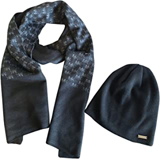 Mens Scarf and Beanie Set