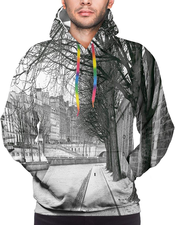 Men's Hoodies Sweatshirts,Seigaiha Pattern Overlapping Half Circles Wave Pattern Traditional Japanese