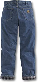 Men's Relaxed Fit Straight Leg Flannel Lined Jean