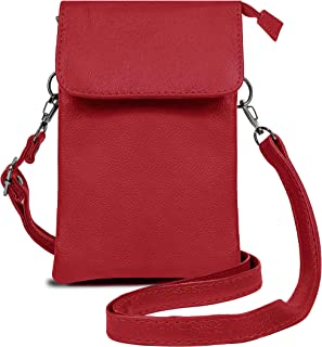 Genuine Leather Small Shoulder Crossbody Cellphone Purse Wallet For Women