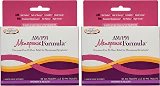 Nature's Way AM/PM Menopause Hormone-Free Formula Daytime Energy & Restful Sleep, 60 Count, Pack of 2 (Packaging May Vary)