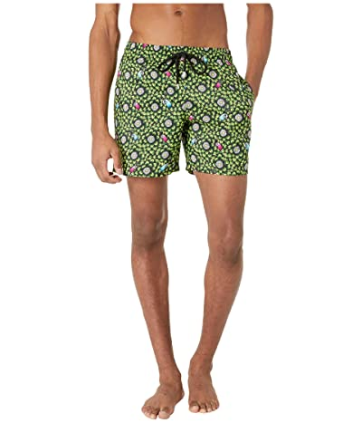 Vilebrequin Mahina Where Is My Peacock? Light Fabric Swim Trunks (Citronelle) Men