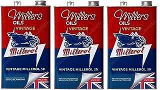 Millers Vintage Millerol 50 Aceite de Motor Monograde sin detergente, 15 litros