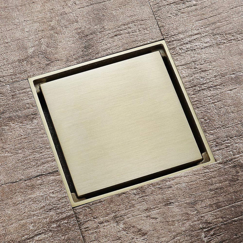 SUNNY KEY-Floor Drain Drain Modern Brass Embedded gold