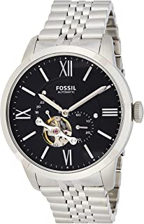 Fossil Townsman Men's Black Dial Stainless Steel Automatic Watch - ME3107