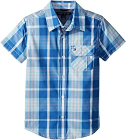Tommy Hilfiger Kids Short Sleeve Stan Yarn-Dye Shirt (Toddler/Little Kids)