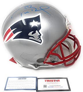 db7df2ff626 Tom Brady New England Patirots Signed Autograph Full Size Proline Authentic  Helmet Blue Ink Tristar Authentic