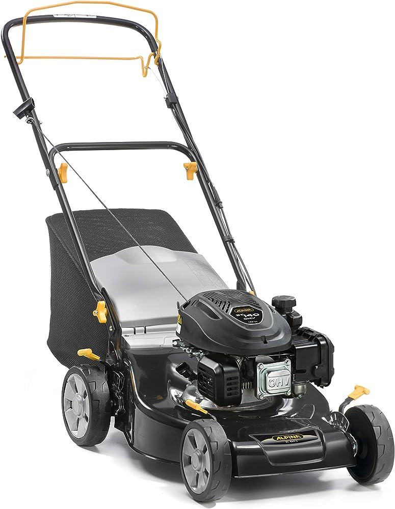 Alpina 295492044/A19 Cortacesped Gasolina BL 460 S, 139 CC, Negro, Ancho de Corte 46 cm, Capacidad de Bolsa 55 L