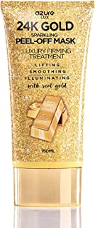 Best AZURE 24K Gold Luxury Firming Peel Off Mask – Lifting, Illuminating & Revitalizing | Removes Blackheads, Dirt & Oils | Reduces Wrinkles, Fine Lines & Acne Scars | Made in Korea - 150 mL Review
