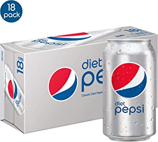 Diet Pepsi, 12 Fl Oz cans, Pack of 18