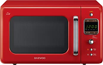 Daewoo KOG-6LBR - Microondas 20 litros digital con grill, 800 W, color rojo