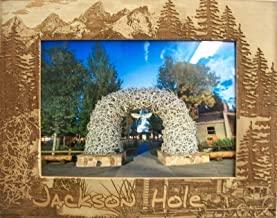 5 x 7 Jackson Hole Wyoming Laser Engraved Wood Picture Frame