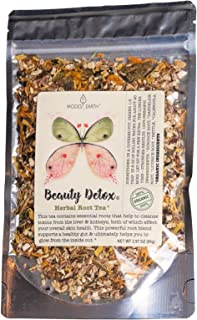 Modest Earth Beauty Detox Tea | 100% Organic Glowing Skin Home Routine | Liver Cleansing & Detoxifying Aid | Clear Acne, N...