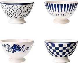 Depot d'Argonne 4 Bowls, Ceramic, Blue, 13 x 13 x 8 cm