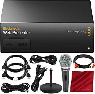 Blackmagic Web Presenter with Microphone and Deluxe Bundle