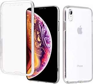 Casetego Compatible iPhone XR Case,360 Full Body Two Piece Slim Crystal Transparent Case with Built-in Screen Protector for Apple iPhone XR 6.1 inch,Clear