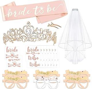 Rose Gold Bachelorette Party Decorations Kit, Konsait Bridal Shower Favor Supplies Gift Hen Party Bachelorette Accessories...