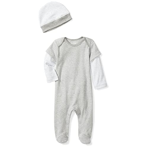 667c81b757a Moon and Back Girls  Organic Double-Sleeve One-Piece Coveralls with Cap Set