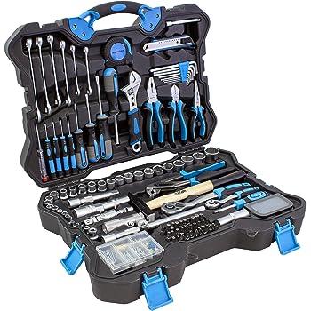 Karcher maletín de herramientas - 135 piezas incluye martillo, alicates, juego de destornilladores, llaves de carraca, llaves de combinadas, cinta métrica y mucho mas: Amazon.es: Bricolaje y herramientas