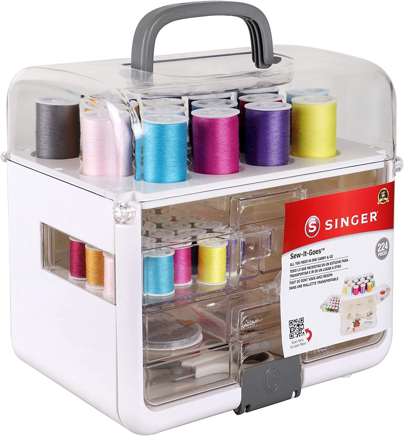 Super sale Singer Sew-It-Goes Max 70% OFF 224 Piece - Craft Kit Organizer S Sewing