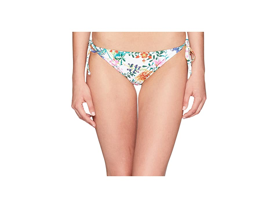 Roxy Softly Love Tie Side Surfer Bottoms (Bright White/Floral Soiree) Women