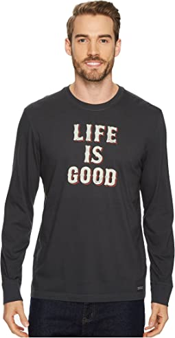 Life Is Good® Stack Long Sleeve Crusher Tee