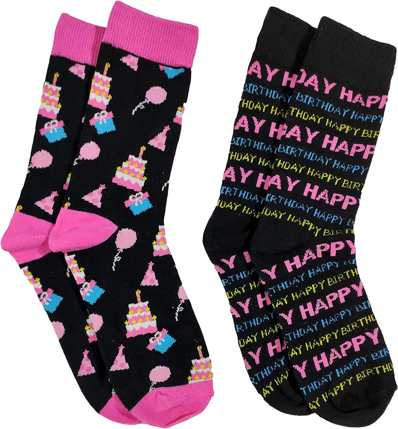 Women's Max 76% OFF Fun Crew Socks Colorful Opening large release sale 9- Novelty Funny Size