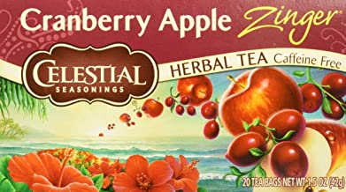 Celestial Seasonings Tea Herb Cranberry Apple Zing C Bag, 20 ct