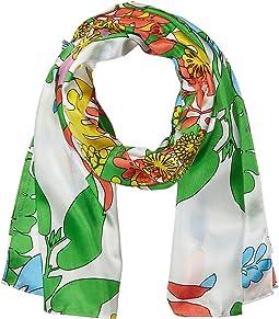 Alonnah Floral Silk Scarf