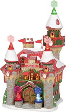 Department 56 North Pole Village Santa's Snowflake Palace Lit Building, 10.51 Inch, Multicolor