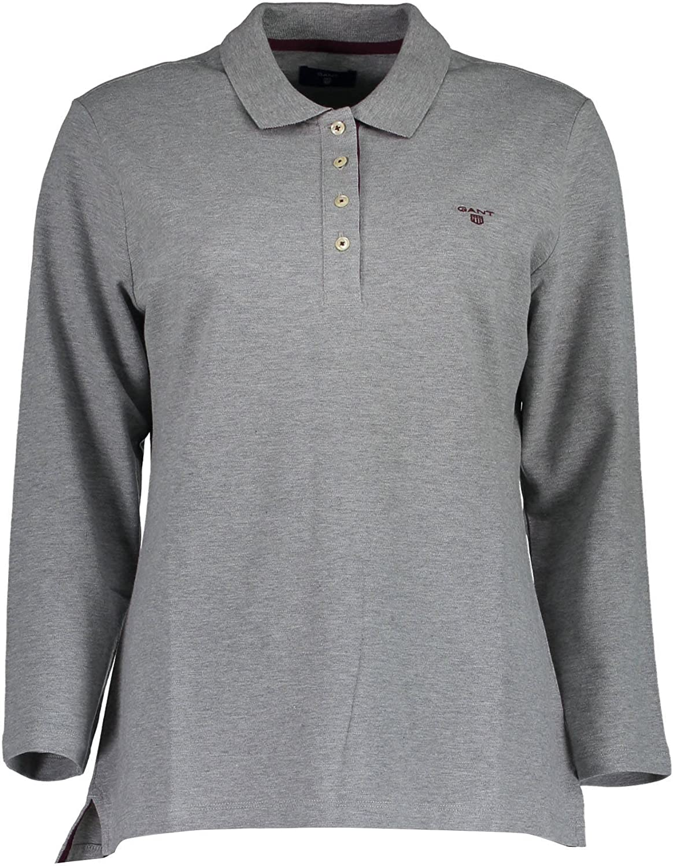 Gant 1603.405500 Polo Shirt Long Sleeves Women Grey 93 XS